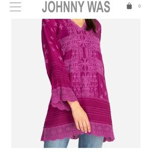 JOHNNY WAS Unique Purple Blouse